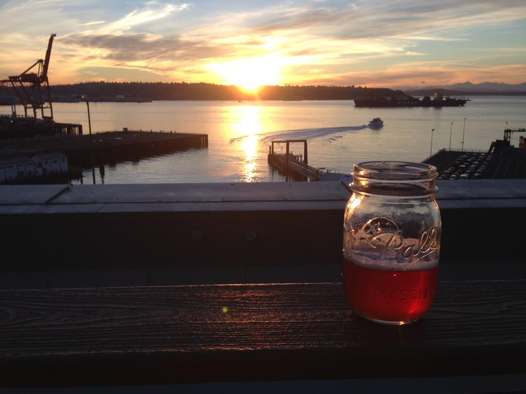 Beer from a mason jar