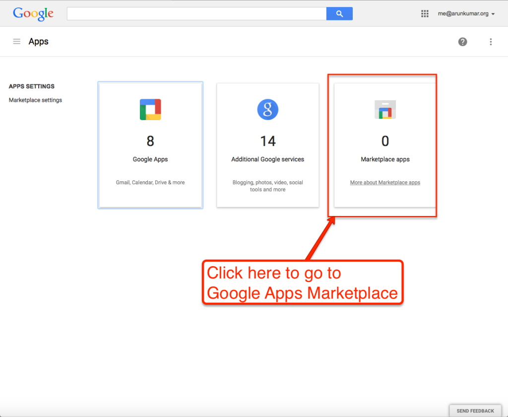 Go to Google Apps Marketplace