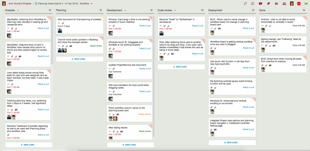 Example of Workflow View