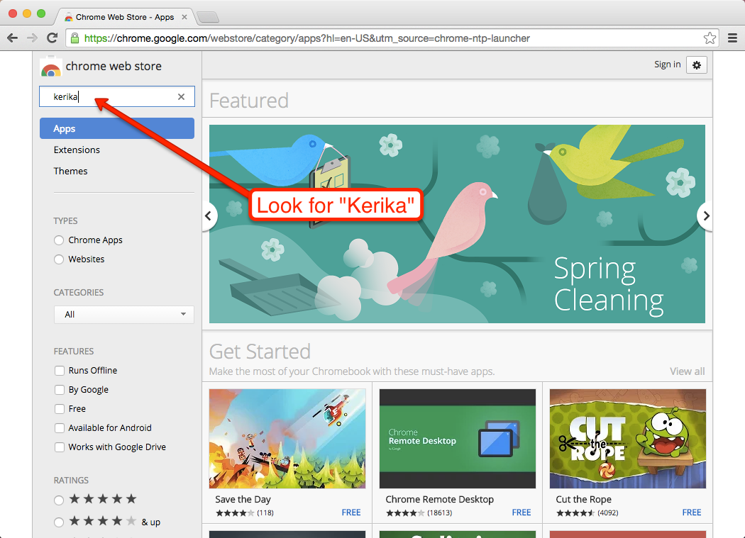 How to rate Kerika on the Chrome Web Store | Get more done