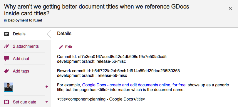 getting titles of google docs you attach to cards and chat
