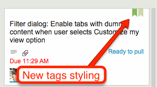 New tags styling