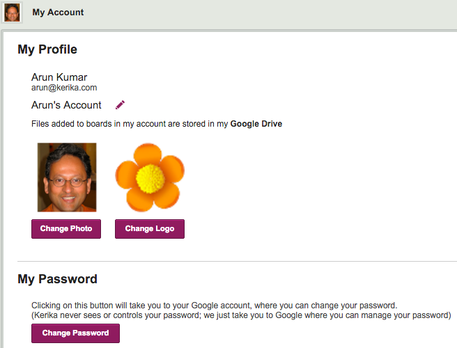 Changing password for Google sign up