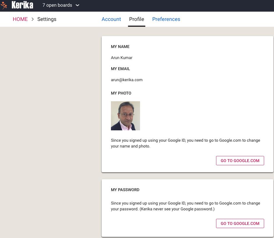 Kerika+Google Profile