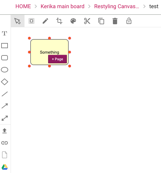 New Canvas toolbar