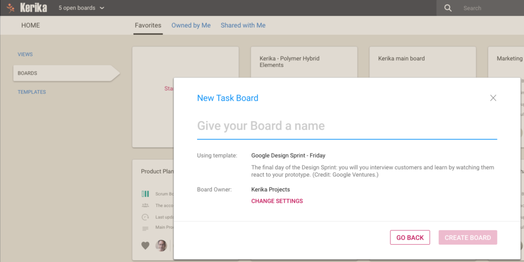 Starting a new Task Board