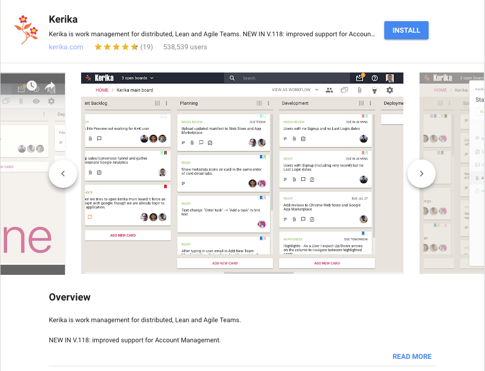Kerika on G Suite Marketplace