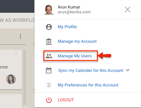 Manage My Users