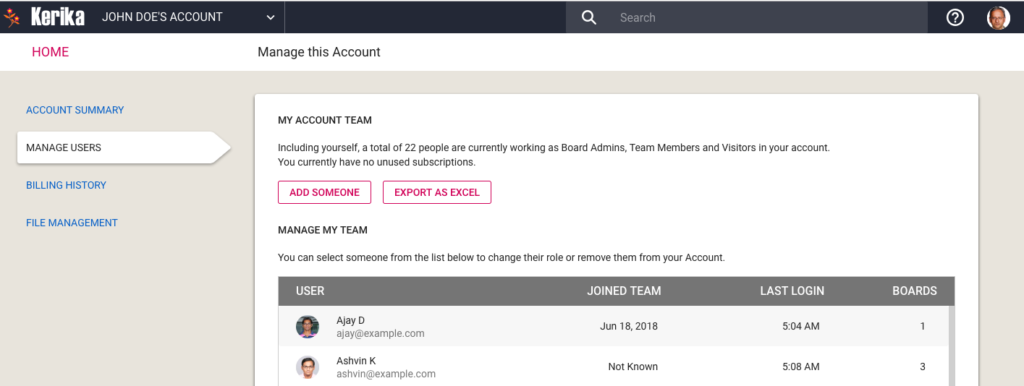 Manage Account Team Step 3